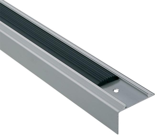 Perfil para pelda o 2 5 m 25 x 45 mm plata mate serie for Perfil u aluminio leroy merlin