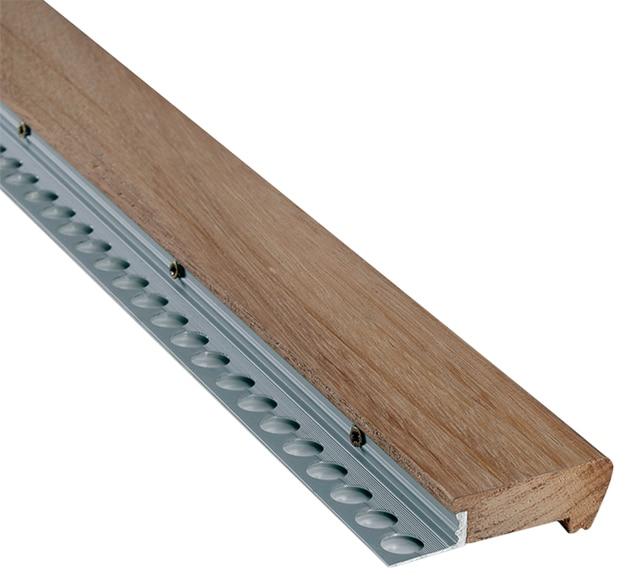 Perfil para pelda o 1 1 x 100 cm natural serie pelda os y torelos madera ref 15483125 leroy - Peldanos de madera para escalera precios ...