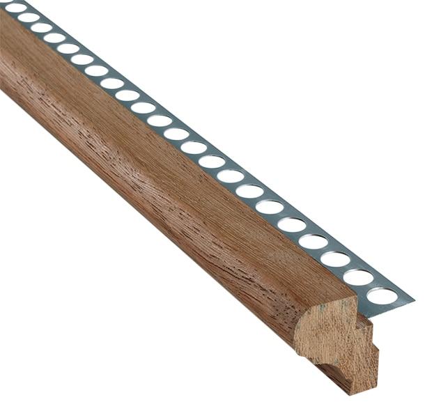 Perfil para pelda o 1 25 x 300 cm natural serie pelda os y - Peldanos de madera para escalera ...