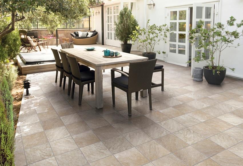 Suelos de terraza interesting suelo continuo en terraza - Limpiar suelo porcelanico rugoso ...