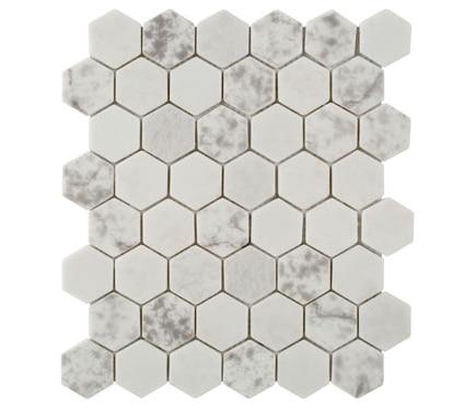 Malla 33 x 28 cm print hexagon blanco serie ink collection - Toner leroy merlin ...
