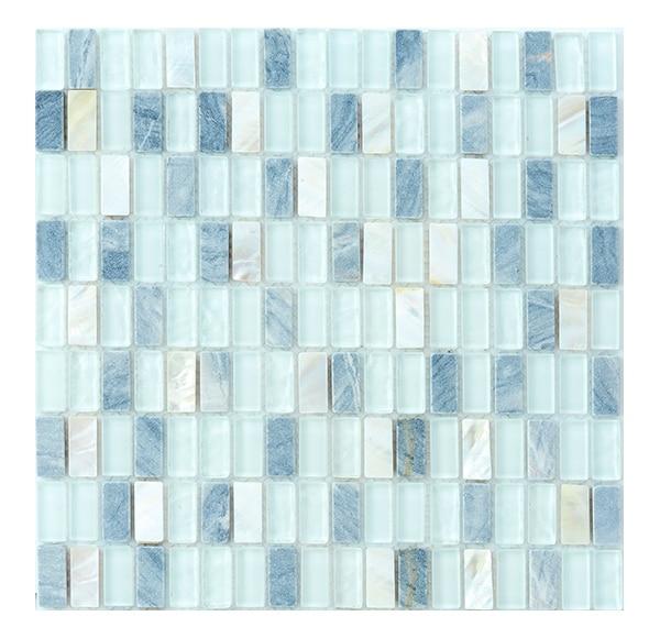 Malla 30 x 30 cm mosaico cristal piedras serie for Mosaico leroy merlin