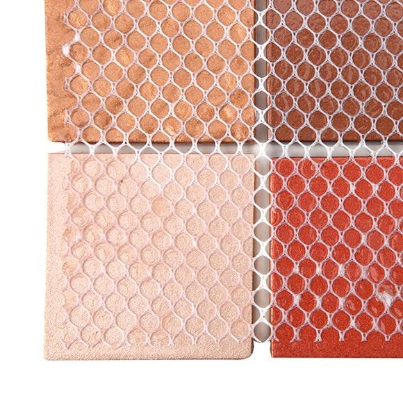 Malla 30 x 30 cm mosaico marr n rojo beige serie - Mosaico leroy merlin ...