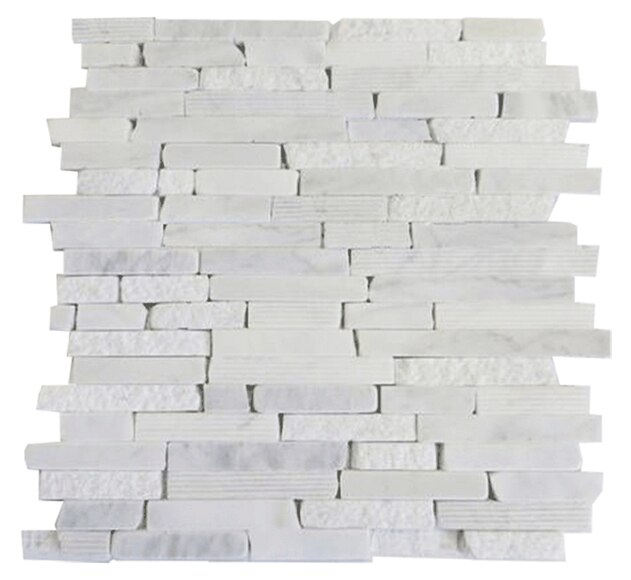 Malla 30 x 30 cm m rmol carrara serie marmol natural ref for Color marmol carrara