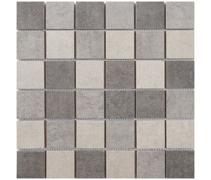 Mosaico 30 x 30 gris serie martins ref 19910996 leroy - Mosaico leroy merlin ...