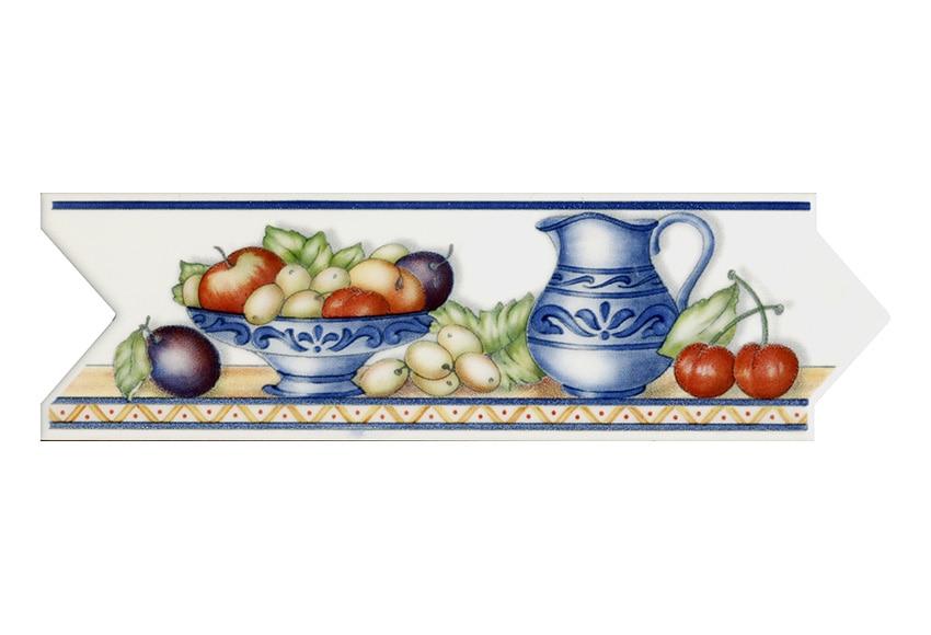 Cenefa 8 x 25 cm ribera cocina clara serie cenefas - Cenefas autoadhesivas cocina ...