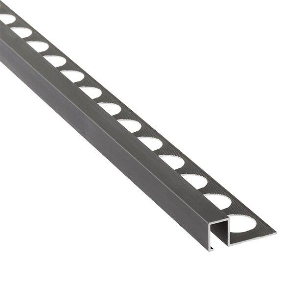Multiusos 1 2 x 250 cm negro mate serie perfiles aluminio for Perfil u aluminio leroy merlin