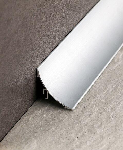 Perfil de transici n 3 x 250 cm plata mate serie rodapi s - Perfil aluminio leroy merlin ...