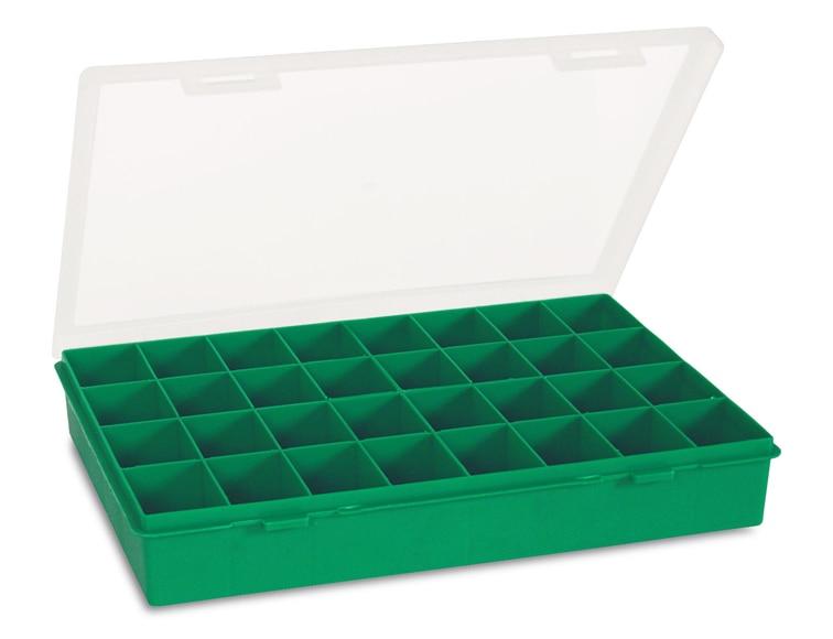 Estuche de 32 compartimentos verde industrias tayg ref for Tejas de plastico leroy merlin