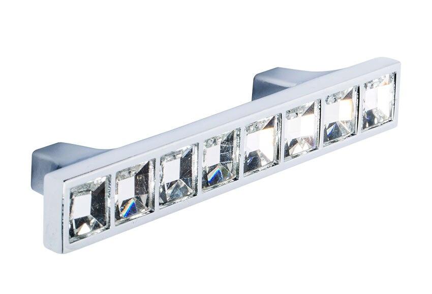 Tirador rectangular cromo brillo cristal serie chic ref - Leroy merlin tiradores ...