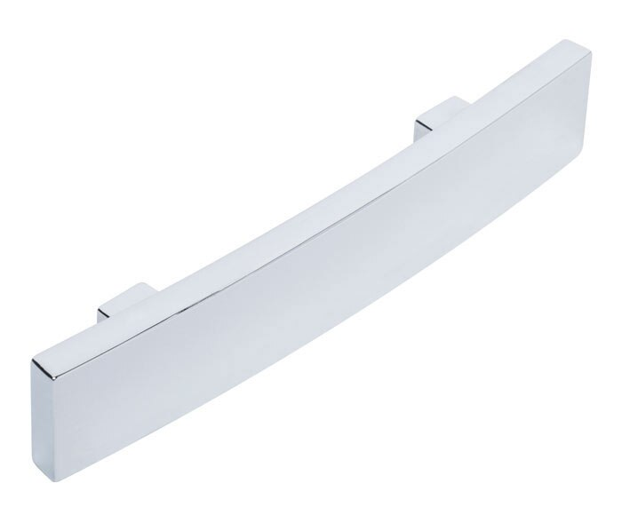 Tirador curvado cromo brillo serie funcional ref 14067060 - Leroy merlin tiradores ...