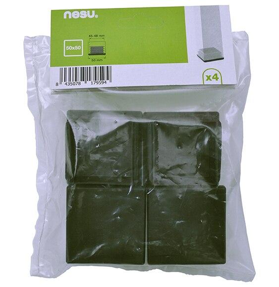 4 conteras nesu de embutir cuadrada negra ref 16683905 - Conteras de plastico ...