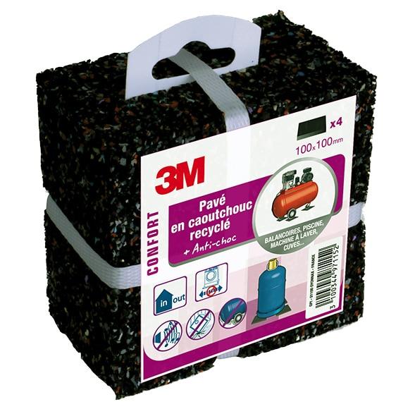 4 almohadillas 3m superficie antivibraci n ref 16714796 - Patas para somier leroy merlin ...