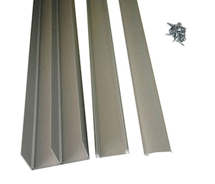 Kit gu a puerta corredera guia plata mate 2m ref 14666834 - Interiores de armarios leroy merlin ...