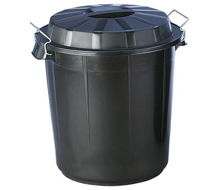Cubo de basura dom stico negro con cierre ref 17568040 for Cubos de basura leroy merlin