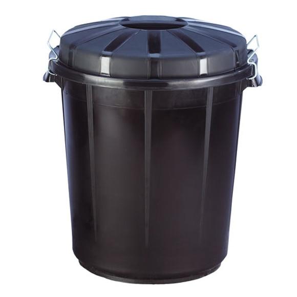 Cubo de basura dom stico negro con cierre ref 31906 for Cubo basura leroy merlin
