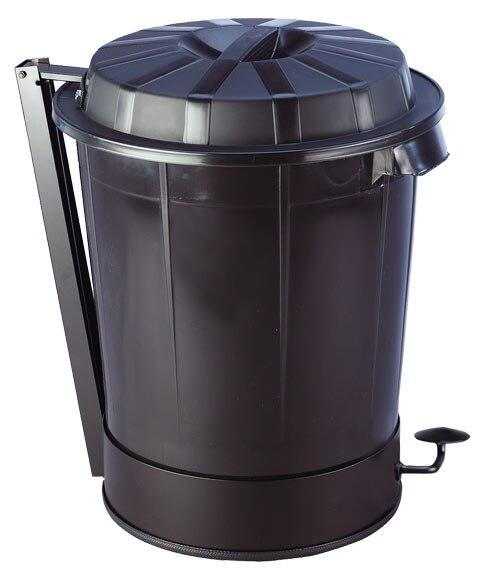 Cubo de basura dom stico negro con pedal ref 17568551 for Cubos de basura leroy merlin