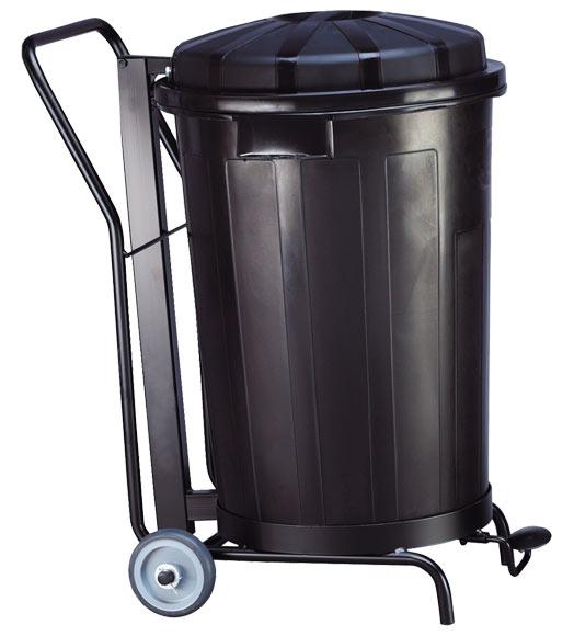Cubo de basura dom stico negro con pedal ref 17568614 for Cubos de basura leroy merlin