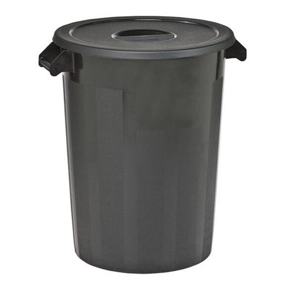 Cubo de basura negro con tapa ref 14310394 leroy merlin for Cubo basura leroy merlin