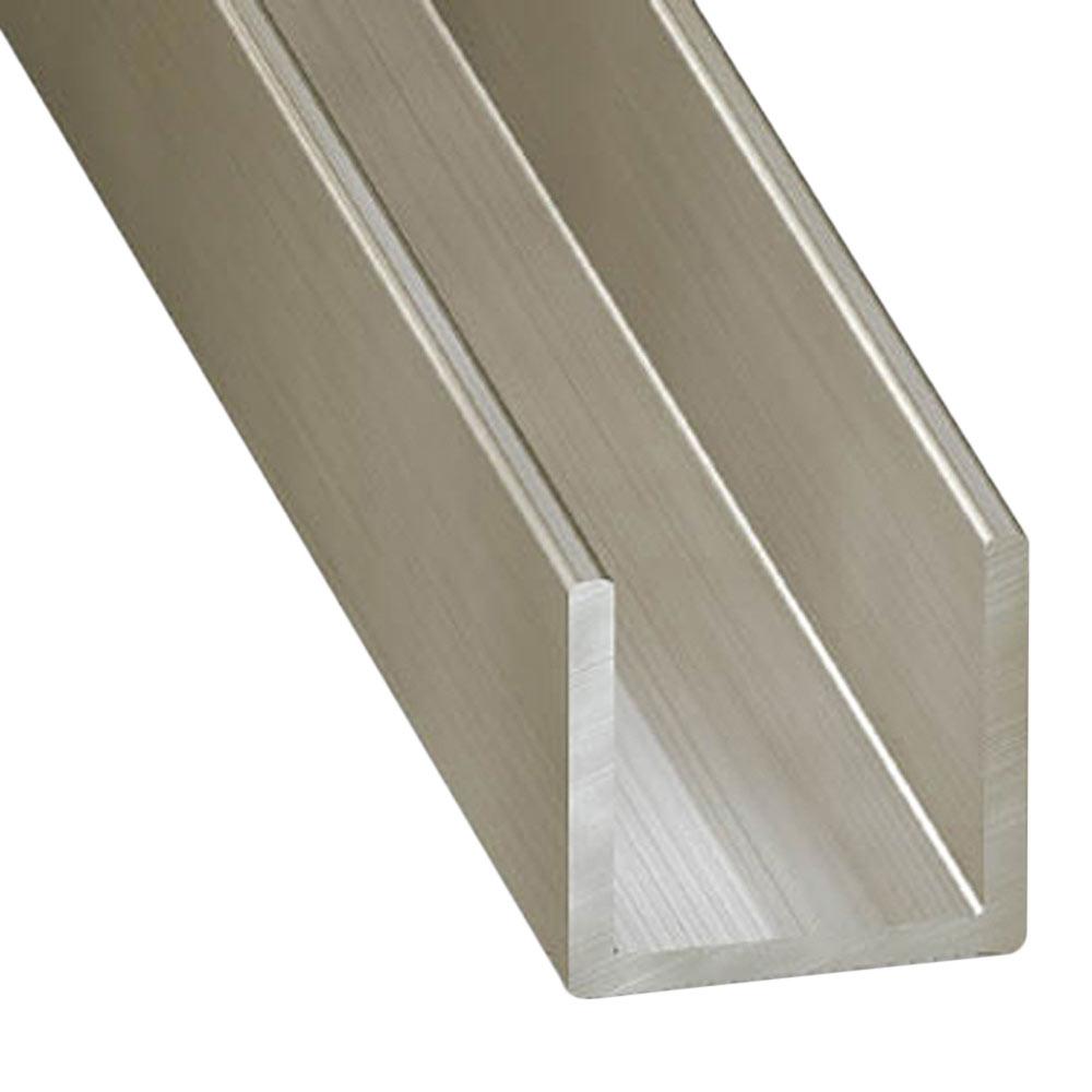 Perfil en u acero inoxidable gris plata ref 13843865 - U acero inoxidable ...