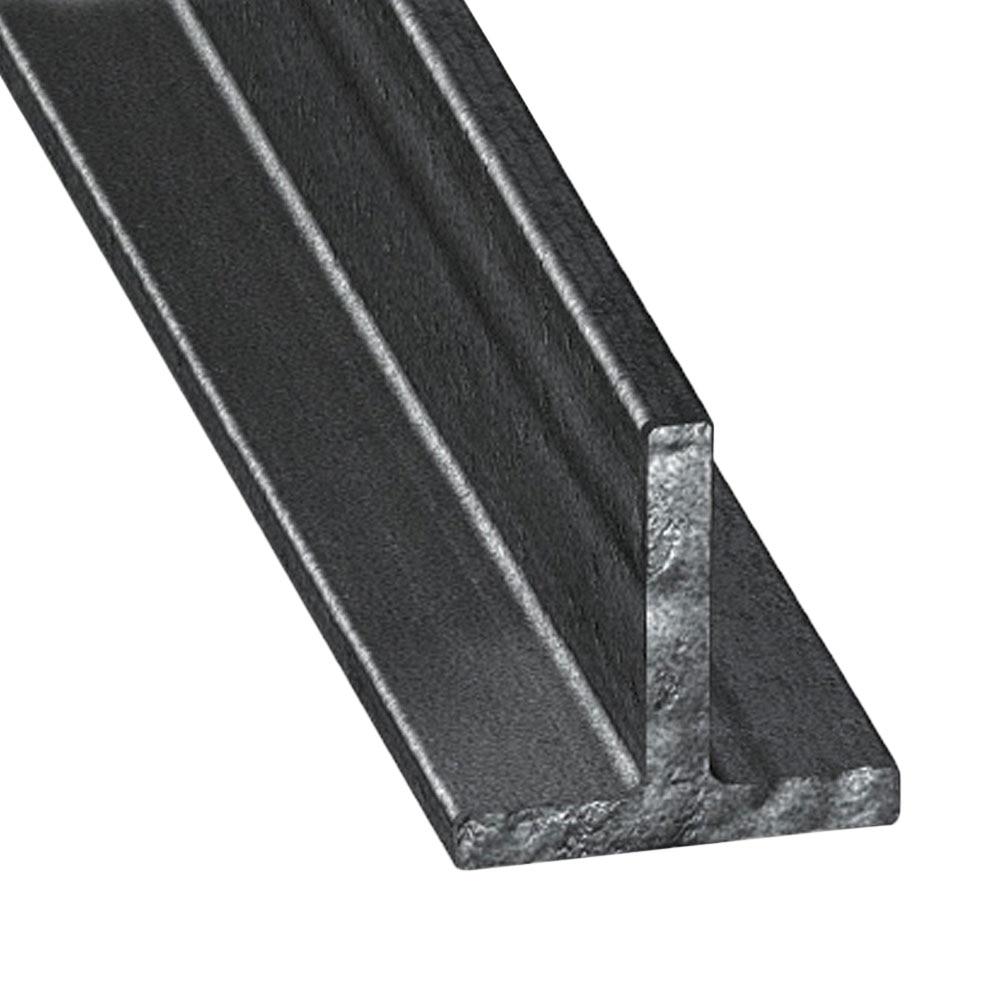 Perfil en t acero laminado caliente gris ref 67403 for Perfil u aluminio leroy merlin