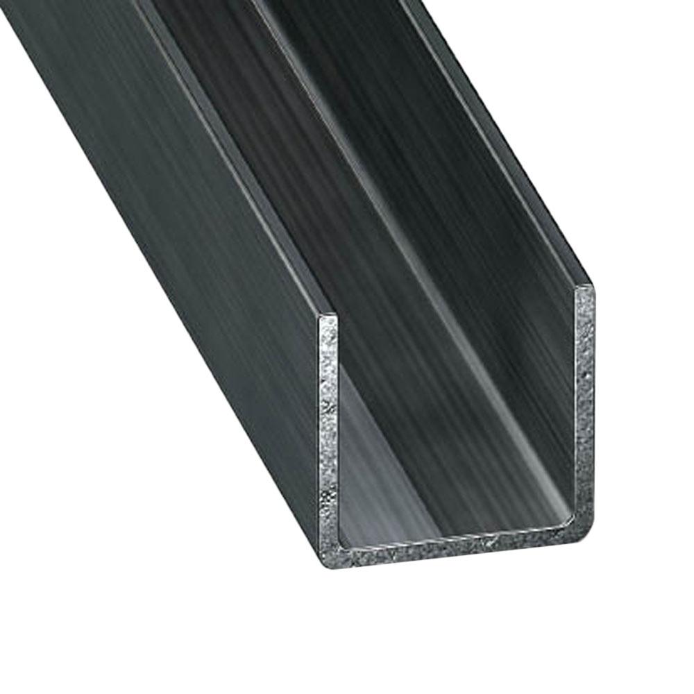 perfil en u acero laminado fr o gris grafito ref 633570 leroy merlin. Black Bedroom Furniture Sets. Home Design Ideas