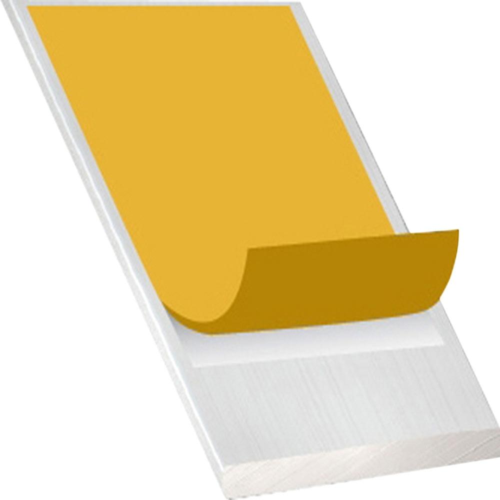 Perfil liso adhesivo aluminio anodizado incoloro ref for Perfil u aluminio leroy merlin