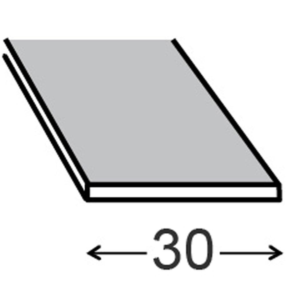 Ngulo adhesivo en l aluminio anodizado blanco ref for Plancha aluminio leroy merlin