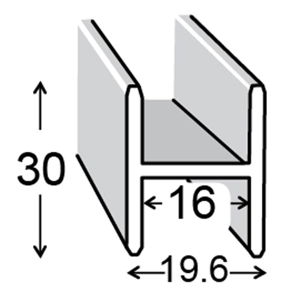 Perfil en h aluminio anodizado ref 13843522 leroy merlin - Perfil aluminio leroy merlin ...