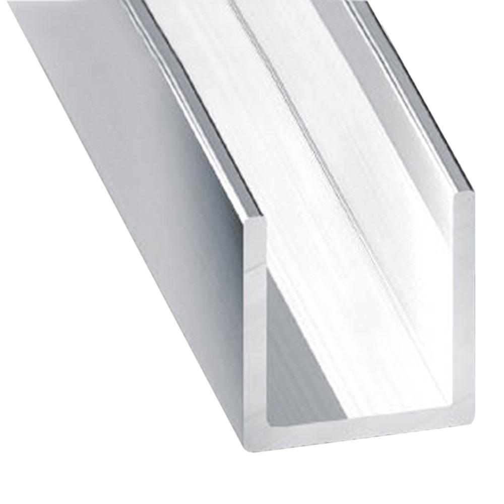 Perfil en u aluminio anodizado brillo plata ref 13843256 - Perfil aluminio u ...
