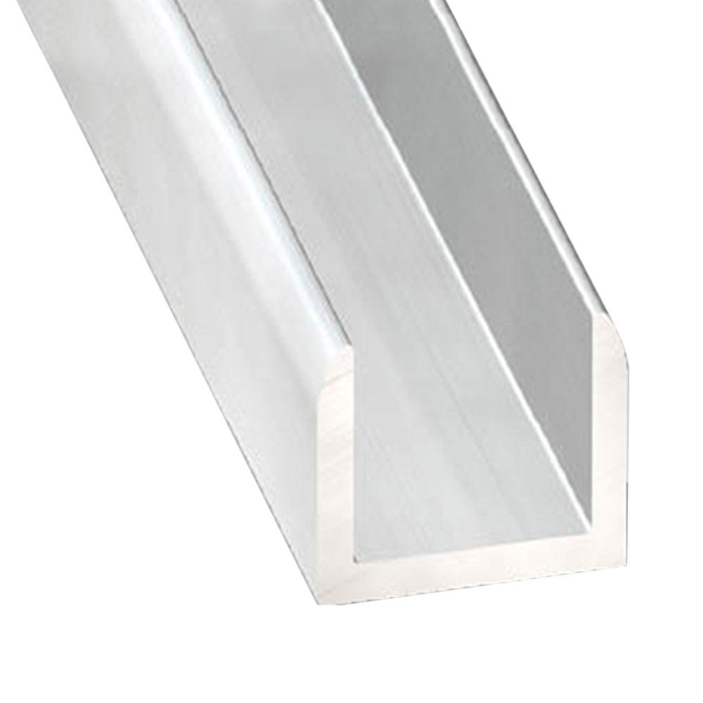Perfil en u aluminio anodizado gris plata ref 631855 for Perfil u aluminio leroy merlin