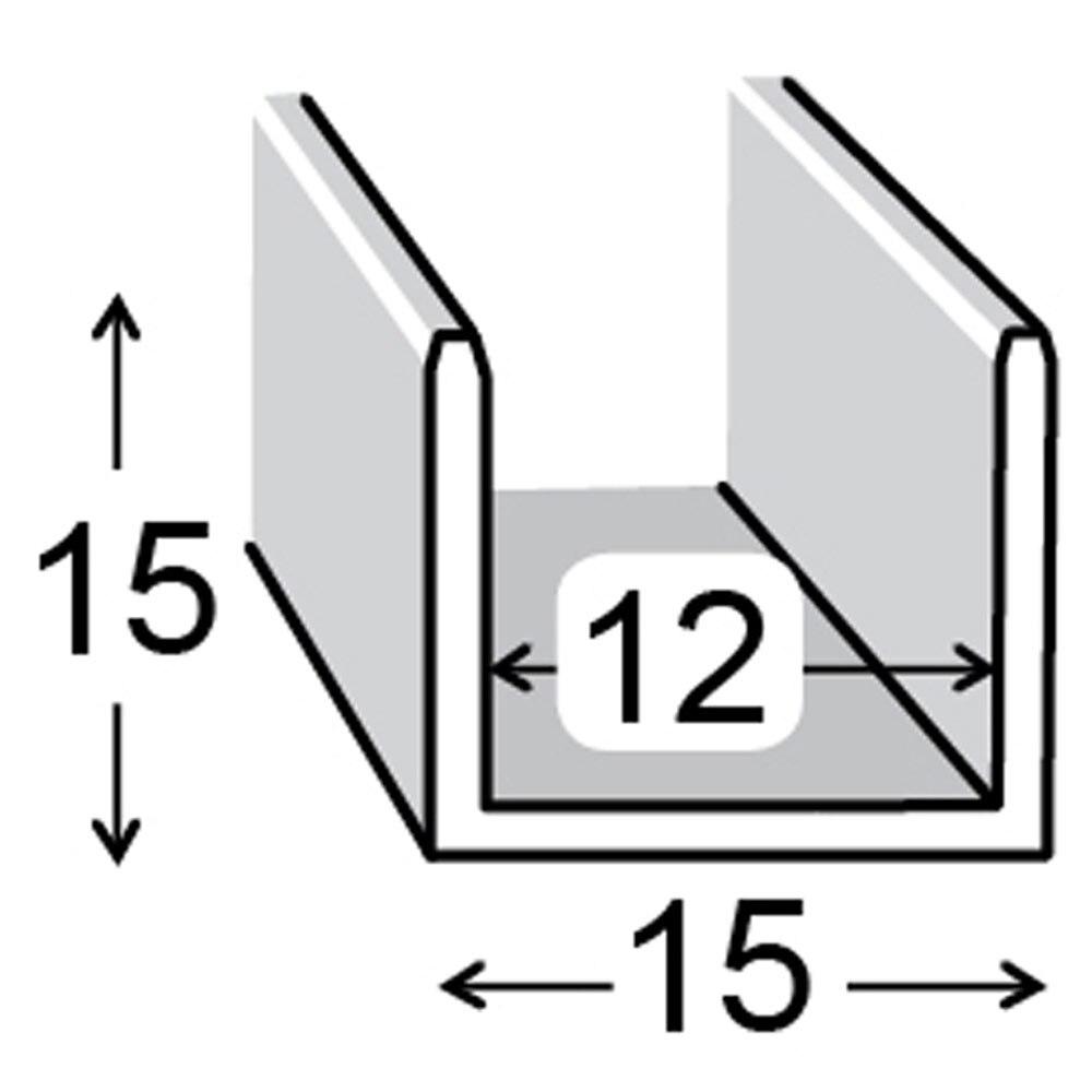 Perfil en u aluminio anodizado inox gris plata ref - Perfil de aluminio en u ...