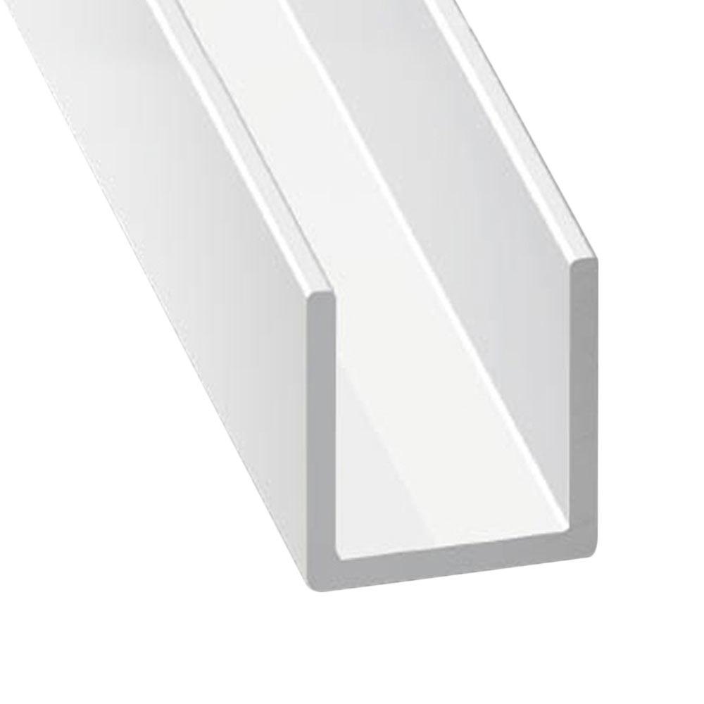 Perfil en u aluminio anodizado lacado blanco ref 10210326 for Perfil u aluminio leroy merlin