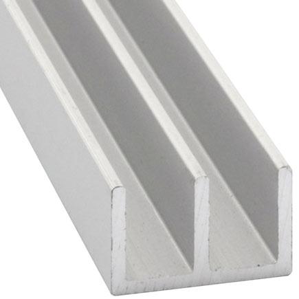 Perfil en doble u aluminio anodizado plata ref 632261 for Perfil u aluminio leroy merlin