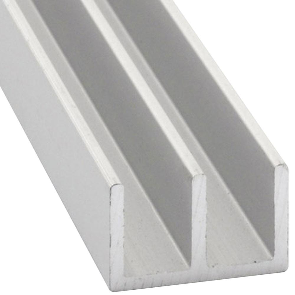 Perfil en doble u aluminio anodizado plata ref 632261 - Perfil de aluminio precio ...