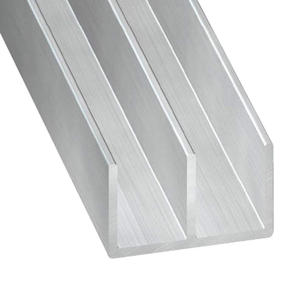 Perfil en doble u aluminio bruto gris ref 69713 leroy - Perfil de aluminio en u ...