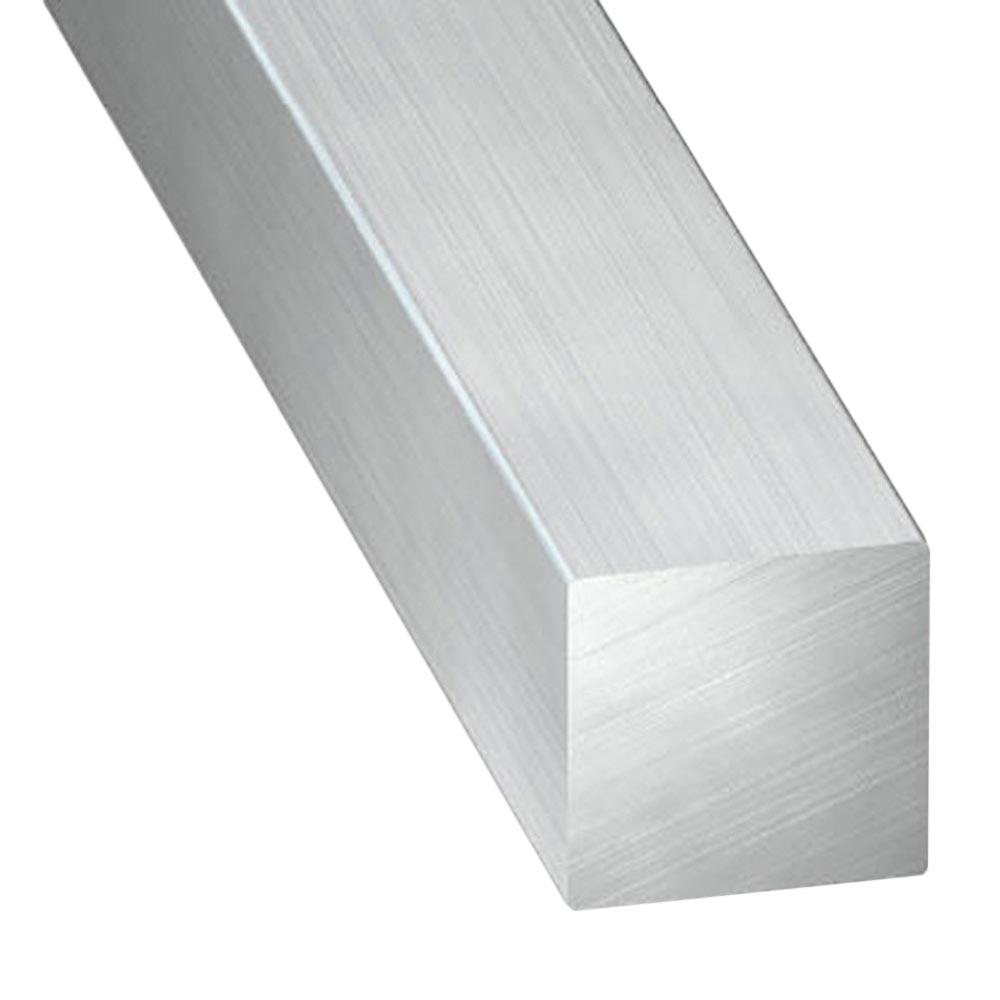 Perfil cuadrado aluminio estirado gris ref 703752 leroy - Perfil aluminio leroy merlin ...