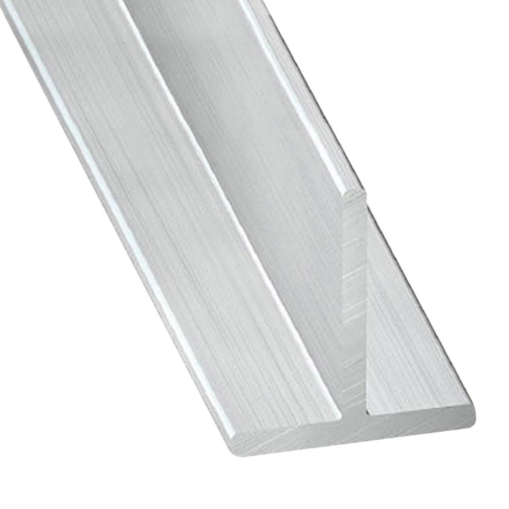 perfil en t aluminio gris plata ref 707784 leroy merlin