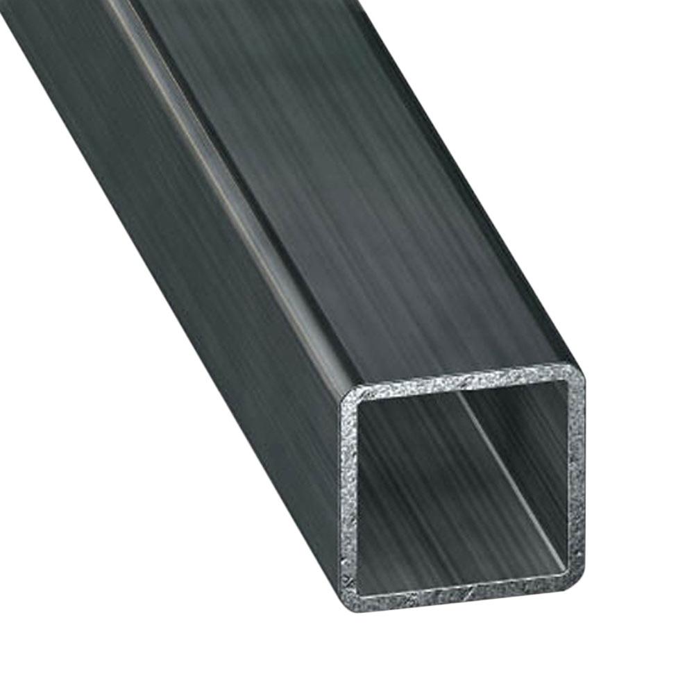 Tubo cuadrado acero fr o gris grafito ref 632205 leroy - Tubo cuadrado acero ...