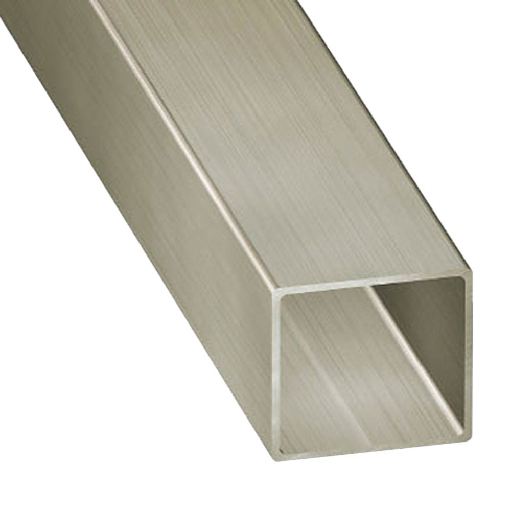 tubo cuadrado acero inoxidable gris plata ref 13843802