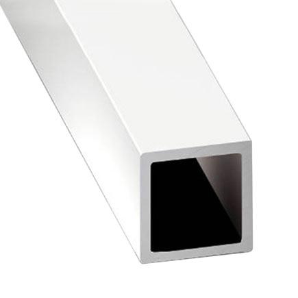 Tubo cuadrado aluminio anodizado lacado blanco ref - Tubo hierro cuadrado leroy merlin ...