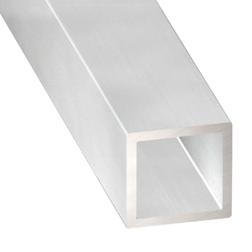 Tubo cuadrado aluminio bruto gris plata ref 12051403 for Tubo irrigazione leroy merlin
