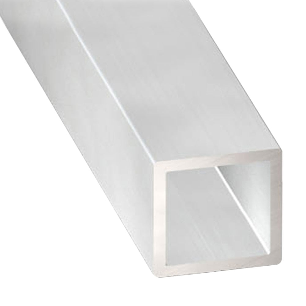 Tubo Cuadrado Aluminio Bruto Gris Plata Ref 13843690