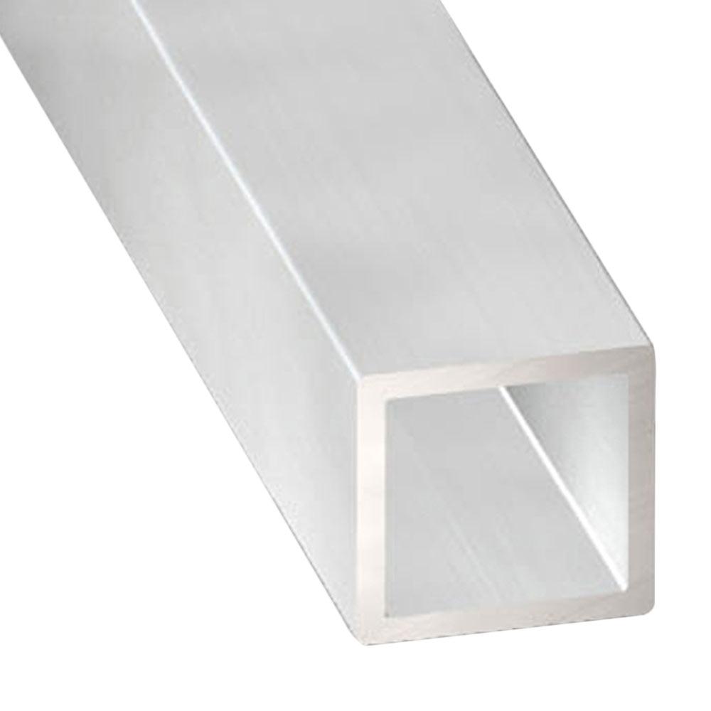 cuadrado aluminio bruto gris plata leroy merlin