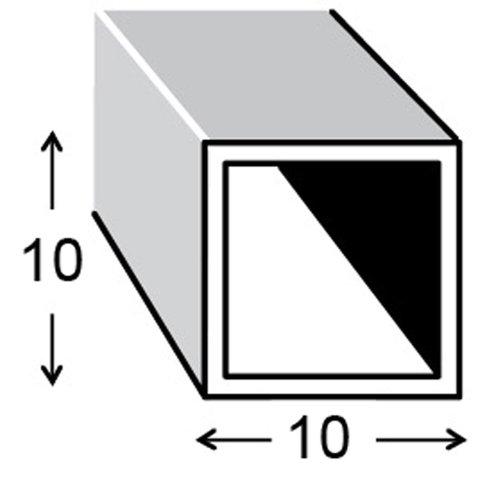 Cuadrado aluminio bruto gris plata leroy merlin for Uniones para perfiles cuadrados de aluminio