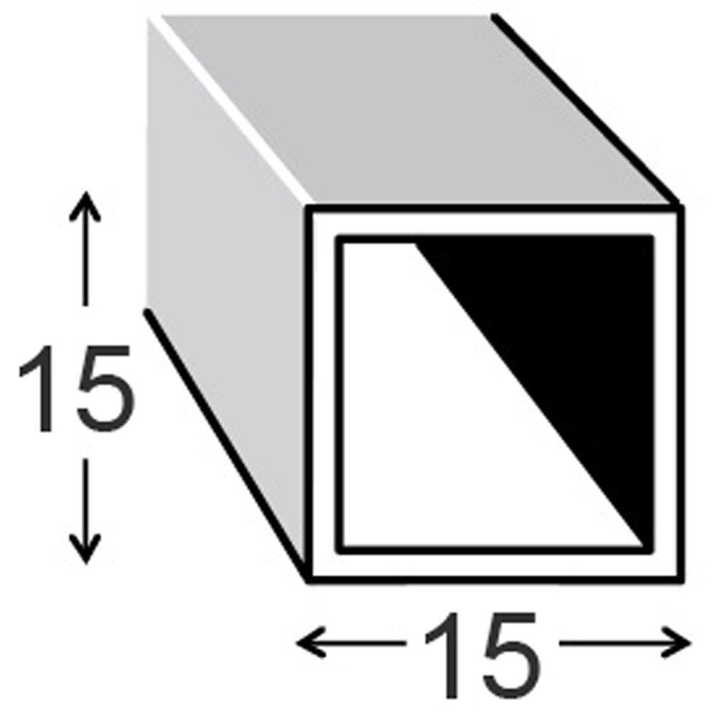 Tubo cuadrado pvc blanco ref 17077312 leroy merlin - Tubos cuadrados de pvc ...