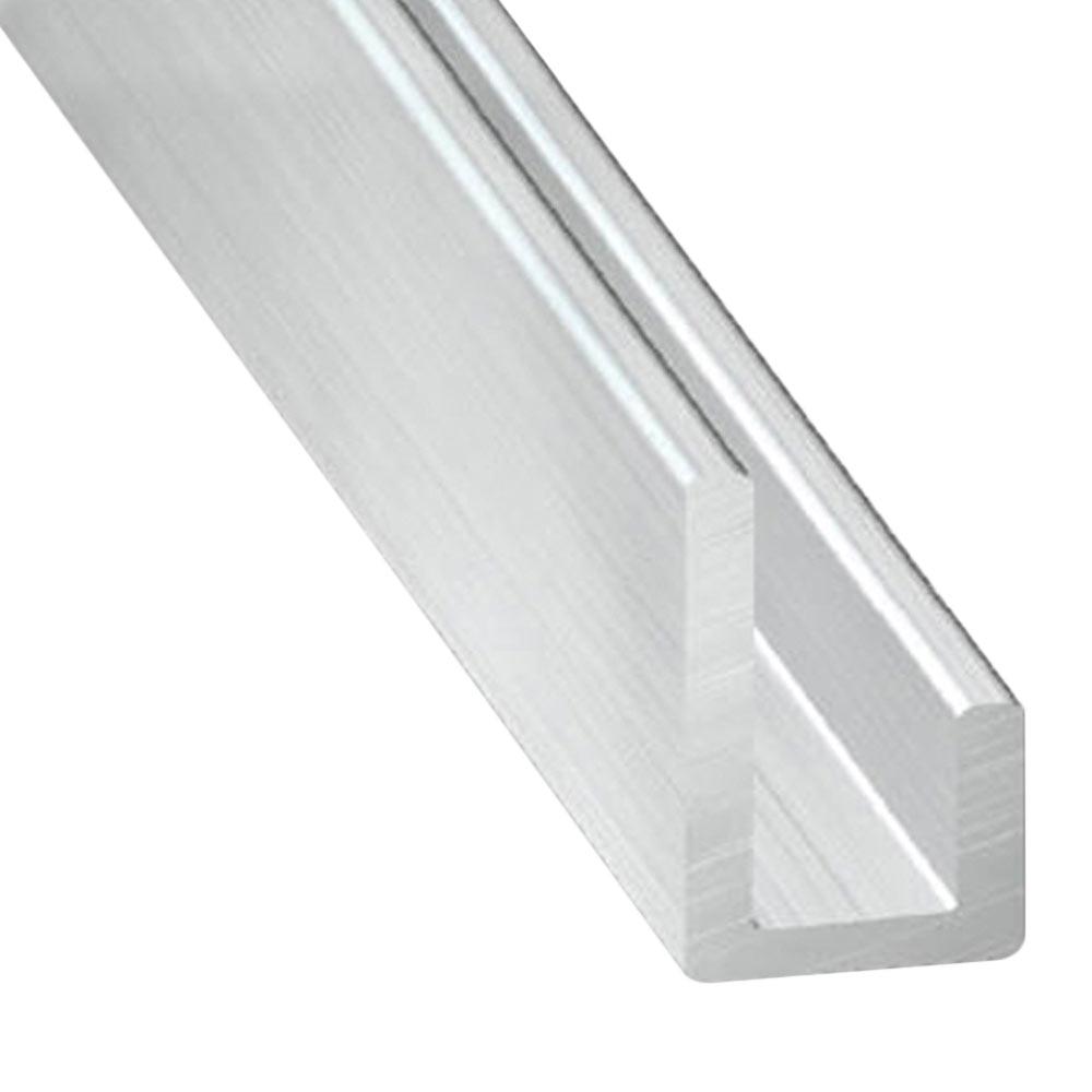 Perfil en u desigual aluminio bruto gris ref 11434052 - Perfil de aluminio en u ...