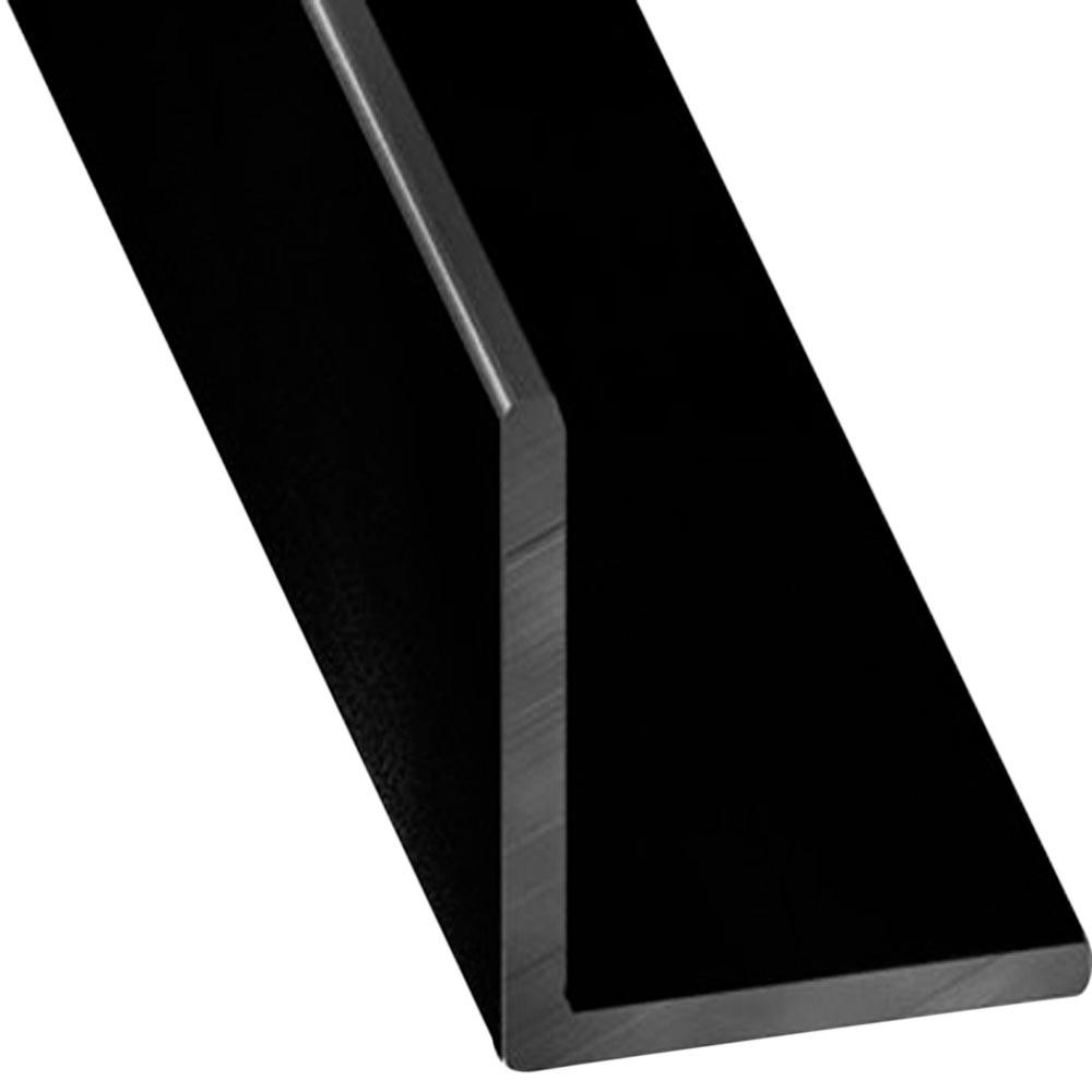 Ngulo en l aluminio anodizado lacado negro ref 17701663 for Colores de perfiles de aluminio