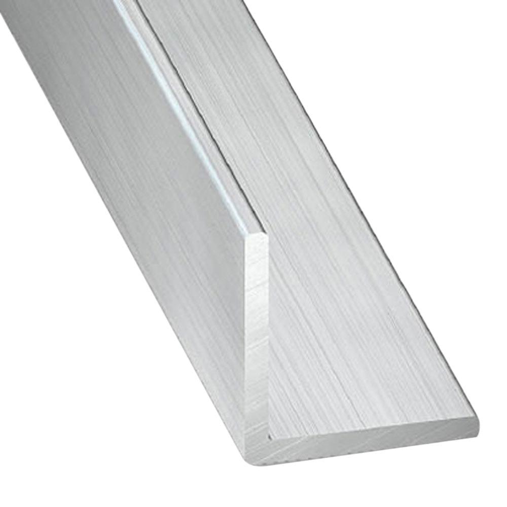 Ngulo en l aluminio bruto gris plata ref 11433982 for Perfiles de aluminio barcelona