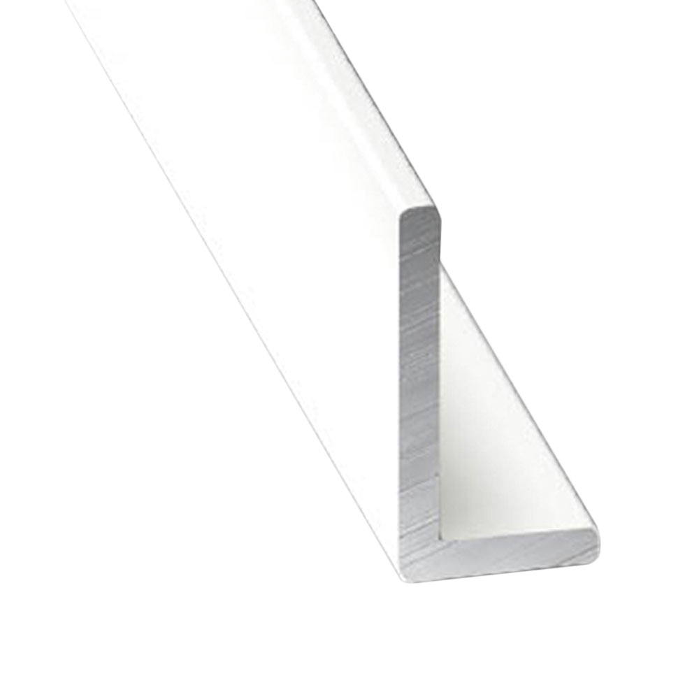 En l desigual aluminio anodizado lacado blanco leroy merlin - Perfil aluminio blanco ...